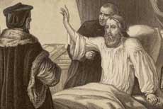 John Wyclif betegágyán