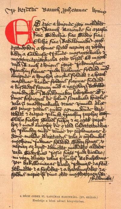 A Bécsi Kódex egy lapja