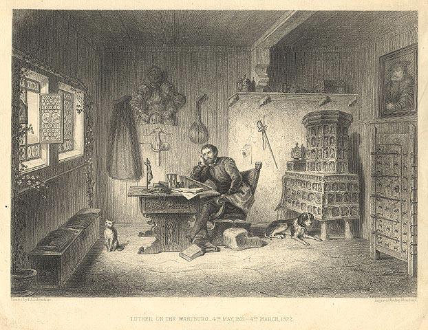 Luther Wartburg várában