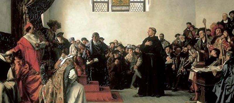 Luther a wormsi birodalmi gyűlés előtt