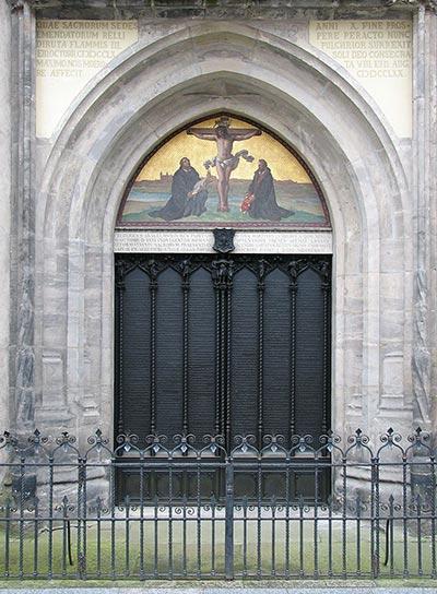 A wittenbergi vártemplom kapuja